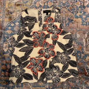 J.Crew Floral sleeveless floral top